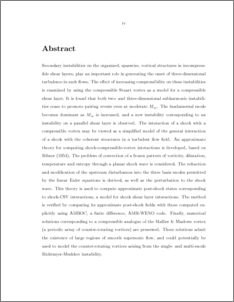 abstract in a thesis